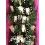 Corsages met echte bloemen (wit)