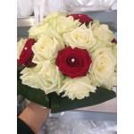 Bruidsboeket met echte bloemen